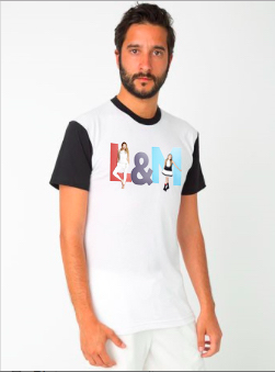 unisex black & white t-shirt