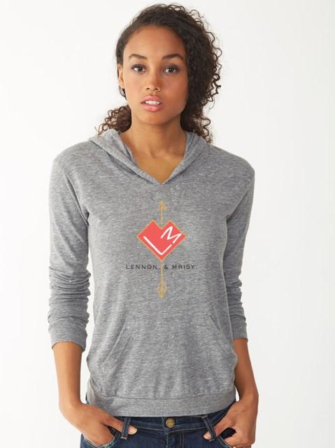lennon & maisy gray hoodie