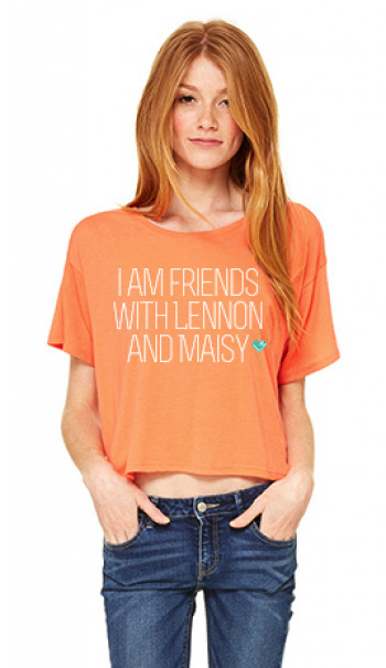 orange crop top t-shirt