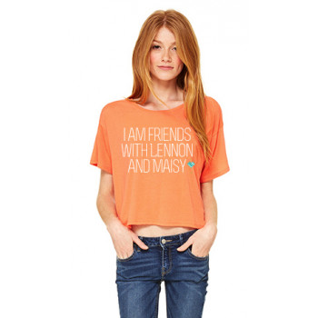 orange crop top t-shirt